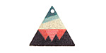 Abstract Mountain Etched & Printed Gold Finish Triangle Focal 22x19mm