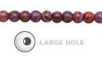 Purple Crazy Lace Agate Round (Large Hole) 6mm