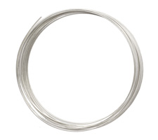 German Style Wire Silver (plated) Half Round 18 gauge, 2 meters