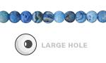 Larimar Blue Crazy Lace Agate (Matte) Round (Large Hole) 6mm