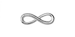 Silver (plated) Infinity Focal Link 23x8mm