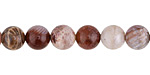 Indonesian Fossil Jasper (red) Round 8mm