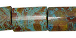 Blue Calsilica Jasper Thin Pillow 25x18mm
