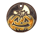 Earthenwood Studio Ceramic Pumpkin Pendant 35mm