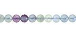 Rainbow Fluorite Faceted Round 6mm