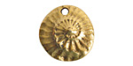 Nunn Design Antique Gold (plated) Guadalupe Charm 17x16.5mm