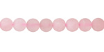 Rose Quartz (matte) Round 6mm