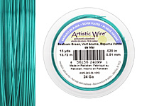 Artistic Wire Silver Plated Seafoam Green 24 gauge, 15 yards