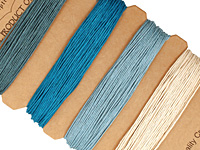 Shades of Aquamarine Hemp Twine 10 lb, 42 ft x 4 colors