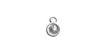 Nunn Design Sterling Silver (plated) Itsy Circle Bezel Pendant 7x10mm