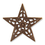 Vintaj Natural Brass Star Trellis 45mm