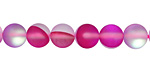 Fuchsia Fused Glass AB (matte) Round 8mm