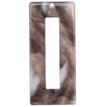 Zola Elements Mink Marbled Acetate Rectangle Donut 22x49mm