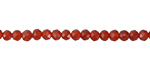 Carnelian Faceted Rondelle 4mm