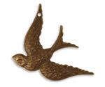 Vintaj Natural Brass Fanciful Bird Pendant 32x42mm