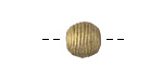 African Brass Corrugated Round 11-12mm