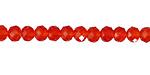Paprika Crystal Faceted Rondelle 6mm