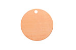 Copper Circle Blank Tag 25mm (w/ 2mm drill hole)