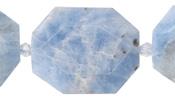Aquamarine Faceted Flat Slab 28-38x22-30mm