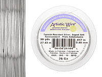 Artistic Wire Tarnish Resistant Silver 26 gauge, 30 yards