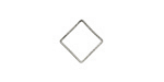 Silver Finish Flat Open Diamond 13mm