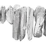 Metallic Silver Coated Quartz Faceted Stick Drop 4-11x18-50mm