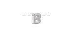 "Sterling Silver Letter ""B"" Charm Slide 6mm"