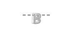 "Sterling Silver Letter ""B"" Charm Slide 6mm"