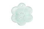 Seafoam Recycled Glass 6 Petal Flower 28mm