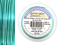 Artistic Wire Silver Plated Seafoam Green 22 gauge, 10 yards
