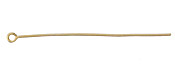 "Satin Hamilton Gold (plated) Eye Pin 2"", 20 gauge"