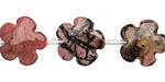 Rhodonite (w/ Extra Black Matrix) Flower 15mm