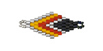 Fire Storm Hand Woven Diamond 32x13mm