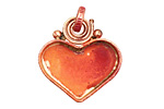Patricia Healey Copper Small Heart Bezel Pendant 26x29mm