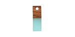 Walnut Wood & Sea Green Resin Rectangle Focal 6x17mm