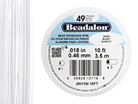 "Beadalon White .018"" 49 Strand Wire 10ft."