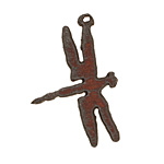 The Lipstick Ranch Rusted Iron Dragonfly Pendant 27x40mm
