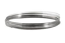 Remembrance Stainless Steel Memory Wire Large Bright Bracelet .25 oz.
