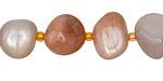 Moonstone (multi) Tumbled Nugget 8-12x12-18mm