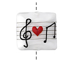 Grace Lampwork Musical Love Note Pillow 27mm