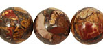 Red Creek Jasper w/ Pyrite Round 18mm