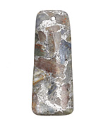 Kyanite & Pyrite Ladder Rectangular Pendant 20x50mm