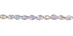 Electric Blue Luster Crystal Faceted Teardrop 5x3mm