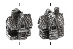Green Girl Pewter Storybook House 11x21mm