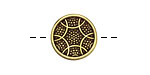 Antique Brass (plated) Crocheted Button 16mm
