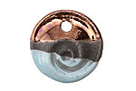 Greek Ceramic Raku Metallic Frosted Copper Small Nautilus Pendant 25mm