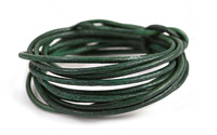 Natural Emerald Round Leather Cord 2mm