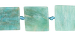 Russian Amazonite Natural Cut Square Slab 11-15x11-14mm