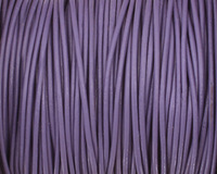 Light Violet Round Leather Cord 2mm