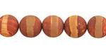 Tibetan (Dzi) Agate Matte Rust Banded Round 10mm